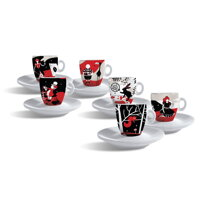 set šálok Caffé Molinari Alice in Coffeeland espresso 6 ks